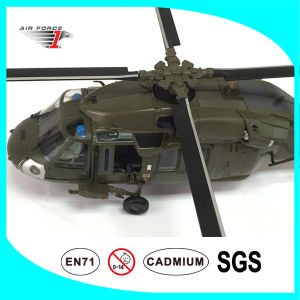 No Resin Helicopter Model Made of Alloy Material Uh-60 Black Hawk