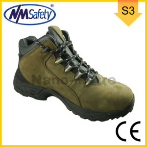 Nmsafety Nubuck All Leather S3 Safety Shoes pictures & photos