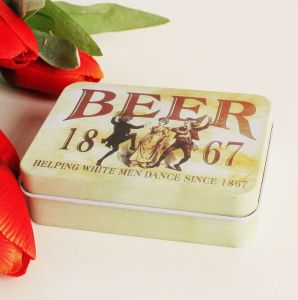 Rectangular Cigarette Tin Box with Hinge pictures & photos