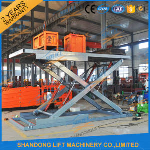 Scissor Type Portable Hydraulic Used Car Lifts for Sale pictures & photos