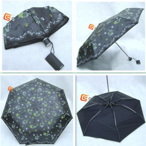 Three Fold Super Light UV Fabric Windproof Umbrellas (YS-3F10010A) pictures & photos