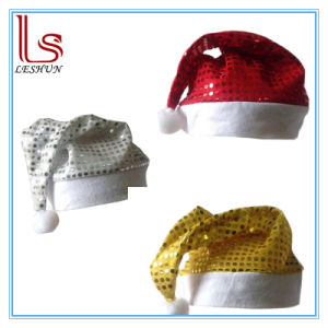 Christmas Decoration Nonwovens Pleuche Santa Claus Hat for Adults pictures & photos