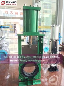 Kgd Slurry Knife Gate Valve with Pneumatic Actuator pictures & photos