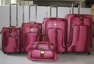 PU Luggage Trolley Case Suitcase Trolley Bag 02jb001 pictures & photos
