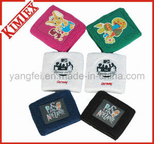 100% Cotton Terry Sports Embroidery Promotion Wristband pictures & photos
