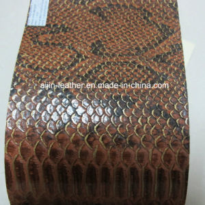 Colorful Embossed Pattern Synthetic PU Leather for Decorative