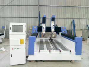 Double Head Stone Engraving Machine with 7.5kw Spindle pictures & photos