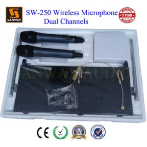 Two Channel UHF Wireless Lavalier Microphone (SW-250) pictures & photos
