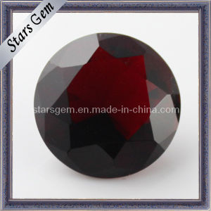 Football Round Faceted Garnet Red Cubic Zirconia pictures & photos
