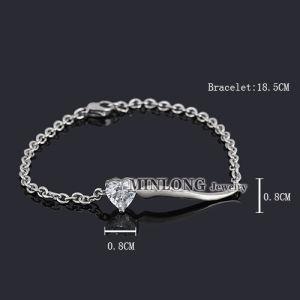 CZ Heart Bracelet (SL1052)