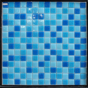 300X300mm Blue Crystal Glass Mosaic for Swimming Pool Tile pictures & photos