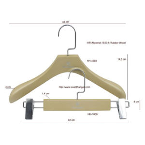 Rubber Wood Luxury Wooden Hanger pictures & photos