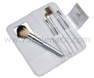 5PCS Portable Cosmetic Brushes with Mirror pictures & photos