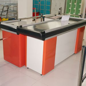 Full Steel Supermarket Store Cashier Checkout Counter pictures & photos