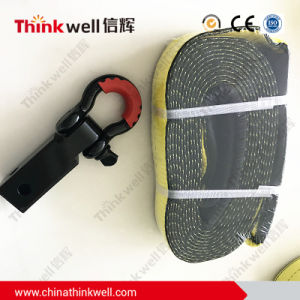 D-Ring Receiver Hitch Yellow Web Sling Towing Strap pictures & photos
