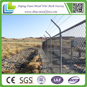 Galvanized and PVC Coated Chain Link Security Fence pictures & photos