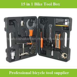 Cheaper 15 in 1 Bicycle Bike Repair Tool Box pictures & photos