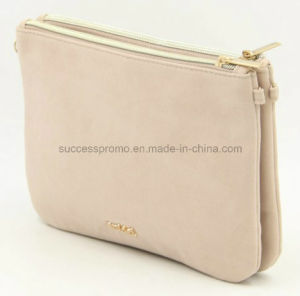 Plain Make up Bag with Metal Logo, Toliet Cosmetic Bag for Lady pictures & photos