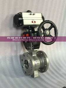Segmented Ball Control Valve, Declutchable Gear Box, Pneumatic pictures & photos