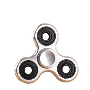 Creative Aluminum Triangle Finger Gyroscope Toy Decompression Single Set of Fingertip Spiral up Toy pictures & photos