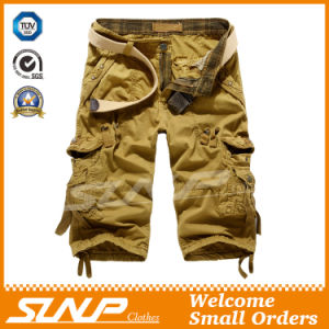 Men′s Summer Khaki Cargo Pants with Side Pockets