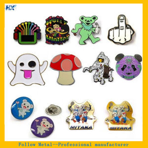 Single Color Black Silver Plating Label Pin pictures & photos