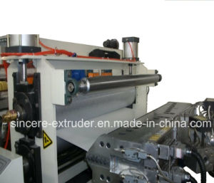 PVC Trapezoid Roofing Tile Making Machine Glazed Tile Extrusion Line 880mm 1050mm pictures & photos