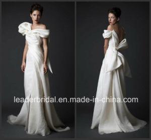 off Shoulder Sleeves Wedding Dress Tulle Krikor Jabotian Bridal Gown W15239 pictures & photos