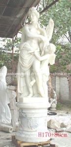 Marble Carved Three Ladies Sculpture pictures & photos