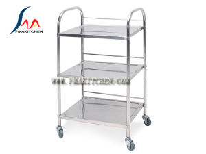 Stainless Steel 4 Tiers Dining Cart with Fence, Hot Pot Cart pictures & photos