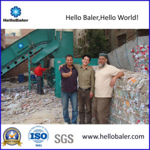 Hydraulic Horizontal Waste Paper Baler in Medium Size pictures & photos