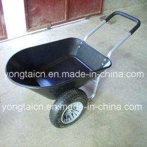 78liter Double Wheel Poly Tray Wheelbarrow pictures & photos
