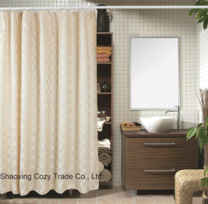 Luxury Good Quality Good Price for Home, Hotel 100%Polyester Jacqurard Shower Curtain, pictures & photos
