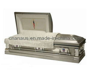 American Style Stainless Steel Casket (15H5016) pictures & photos