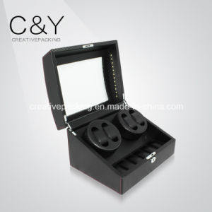 Black Dual PU Leather Watch Winder pictures & photos