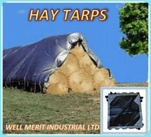 Silver/Black Color Heavy Duty Premium Hay Tarp pictures & photos