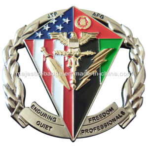 Soft Enamel Silver Plating Cut out Challenge Coin pictures & photos