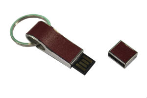 OEM Leather USB Flash Drive with Engrave pictures & photos