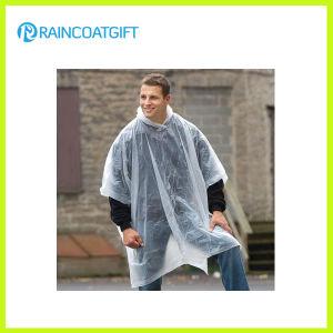 Cheap Clear PE Disposable Rain Ponchos Rpe-018 pictures & photos