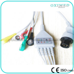 Compatible or Original ECG Cable for Plusmed Plus-6800 with Snap Tip, Aha