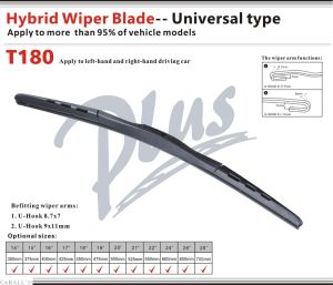 Hybrid Wiper Blade Universal U-Hook Wiper Arms pictures & photos