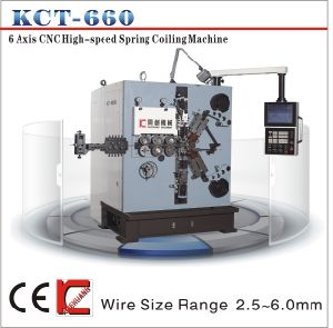 Kct-660 6mm 6axis Electronics Compression Spring Coiling Machine&Spring Coiler pictures & photos