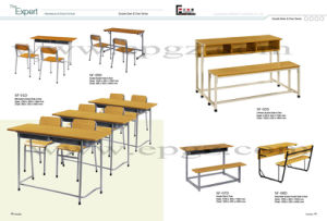 School Furniture Manufacturers Double School Desk and Chair pictures & photos