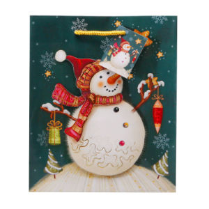 Snowman Christmas Gift Paper Bag (CS-010)