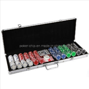 600PCS Poker Chip Set in Round Corner Real Aluminum Case (SY-S74) pictures & photos