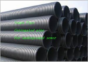 Corrugated PE Pipe for Underground Sewer pictures & photos