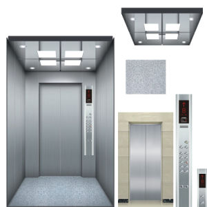 Hairline Stainless Steel Stretcher Hospital Elevator Residential Lift pictures & photos