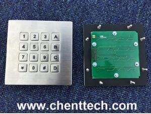 Rugged IP68 Waterproof Numeric Metal Keypad with 16 Keys