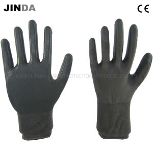 Nitrile Coated 13 Gauge Polyester Shell Labor Protective Safety Work Gloves (NS003) pictures & photos