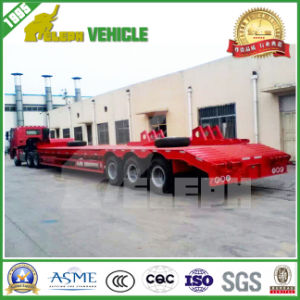 3 Axles Low Loading Deck Transport Heavy Machine Utility Trailer pictures & photos